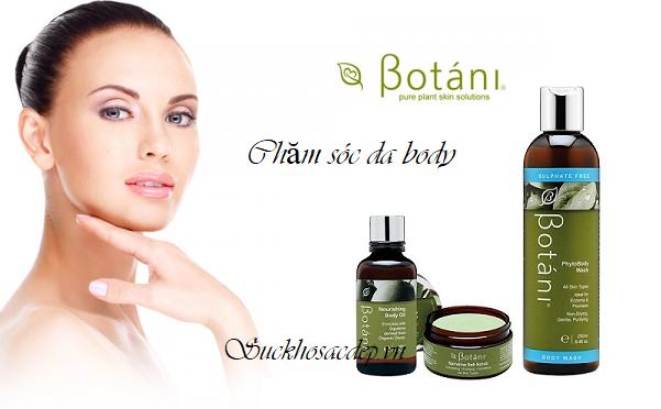 Bộ mỹ phẩm chăm sóc da toàn thân Botani