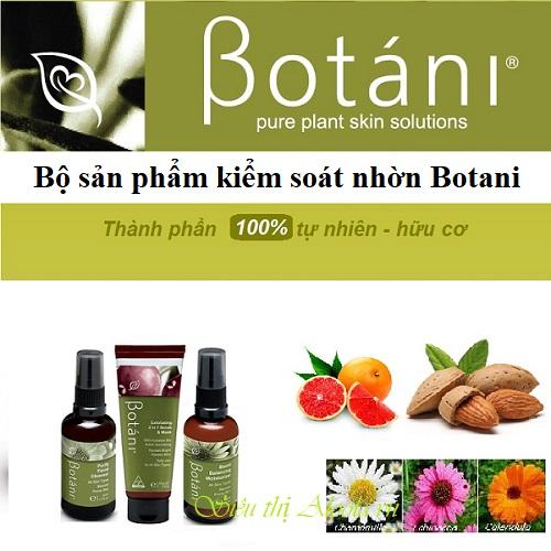 bộ sản phẩm kiểm soát nhờn Botani
