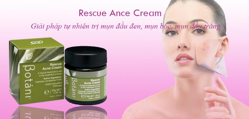 Kem trị mụn hữu cơ Botáni Rescue Ance Cream 30g xuất xứ Úc