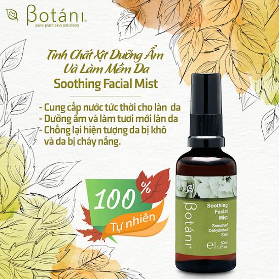 Tinh chất xịt dưỡng ẩm và làm mềm da Botáni Soothing Facial Mist