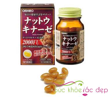 Review về giá của viên uống viên uống nattokinase 2000fu orihiro Nhật Bản
