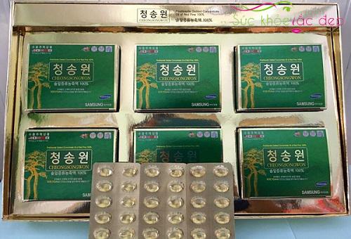 Địa chỉ uy tín nhất mua tinh dầu thông đỏ cheongsongwon Hàn Quốc