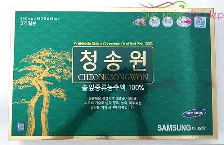 Cách sử dụng tinh dầu thông đỏ cheongsongwon 180 viên có hiệu quả