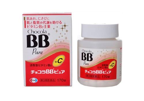 Viên uống trị mụn làm đẹp da Chocola BB Pure 170 v tốt nhất Nhật Bản
