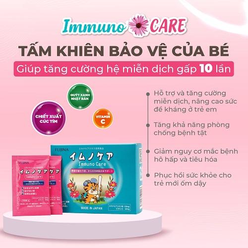 immuno care - tăng cường sức đề kháng giúp bé yêu luôn luôn khỏe mạnh