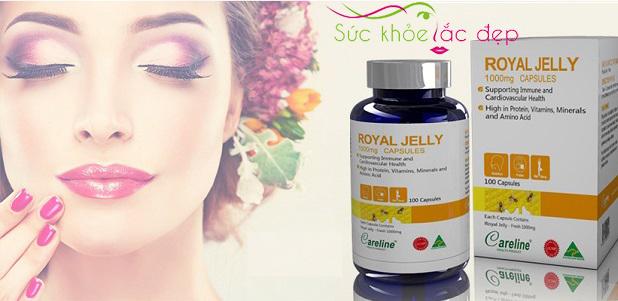 Công dụng Sữa Ong chúa royal jelly 1000mg trong làm đẹp