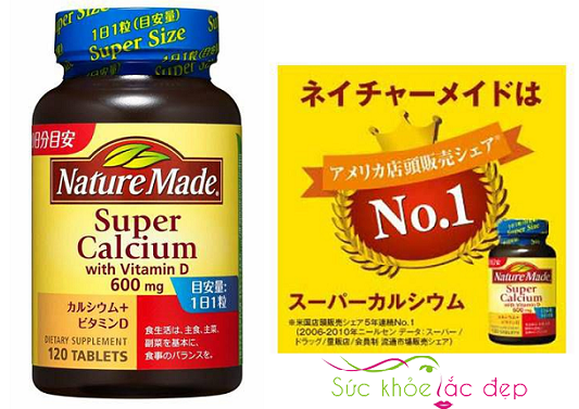Cách sử dụng của Viên canxi nature made super calcium 600mg nên kết hợp với điều gì?