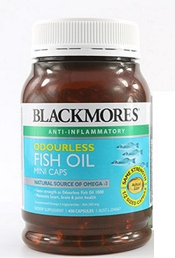Viên dầu cá Blackmores Odourless Fish Oil Mini Caps 400 viên