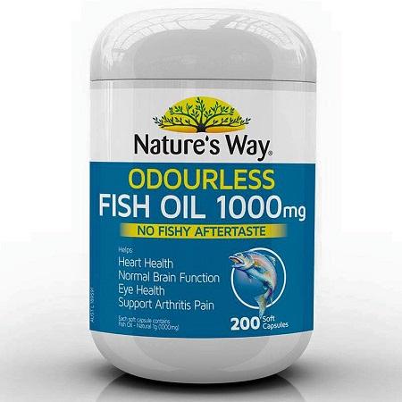 Dầu cá Natures Way Fish Oil 1000mg 200 viên của Úc