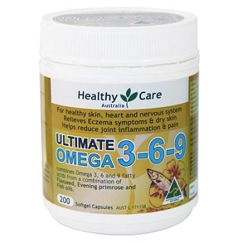 Viên dầu cá Healthy Care Ultimate Omega 3 6 9 chính hãng Úc