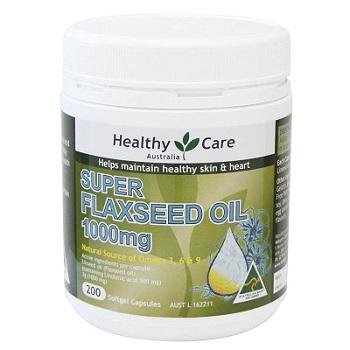 Viên uống dầu hạt lanh Healthy Care Super Flaxseed Oil