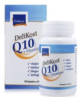 Thực phẩm chức năng hỗ trợ tim mạch Delikost Q10 + Vitamine