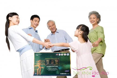 Công dụng của tinh dầu thông đỏ cheongsongwon 180 viên