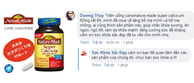 Review về giá của viên bổ sung canxi nature made super calcium with vitamin D