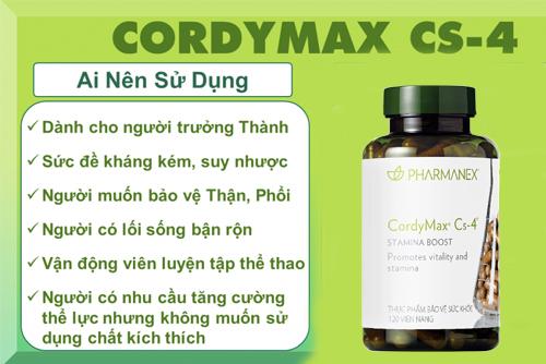 những người nên dùng cordymax cs-4 nuskin