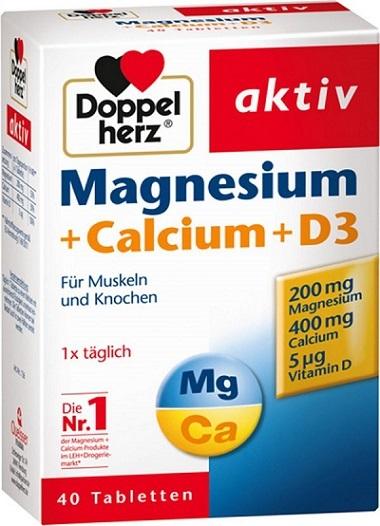 Những lợi ích mà viên uống Magnesium + Calcium + D3 mang lại.