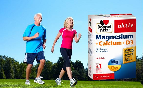 Viên uống magnesium + calcium + d3 hỗ trợ điều trị bệnh xương khớp.