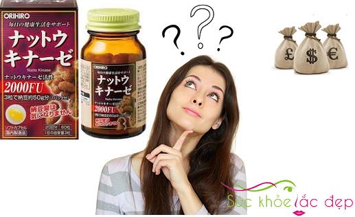 Giá viên uống nattokinase 2000fu orihiro Nhật Bản bao nhiêu?