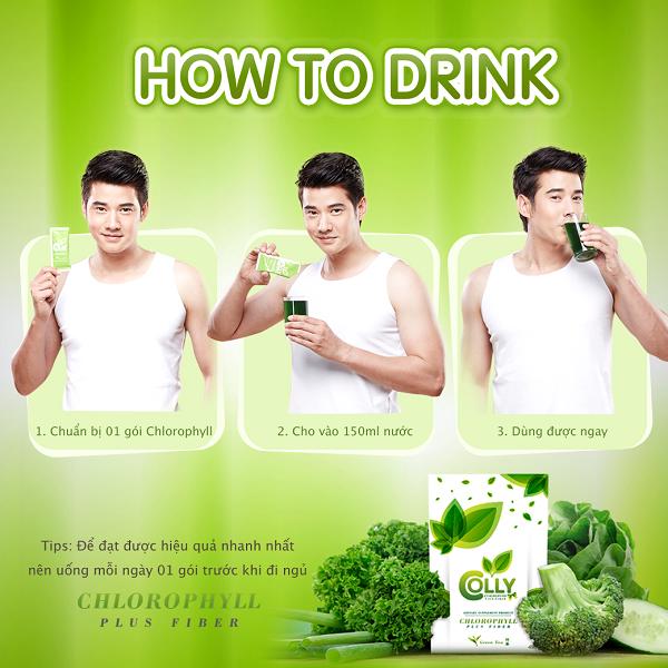 Trà Xanh Giảm Cân Colly Green Tea Chlorophyll Plus Fiber Thái Lan