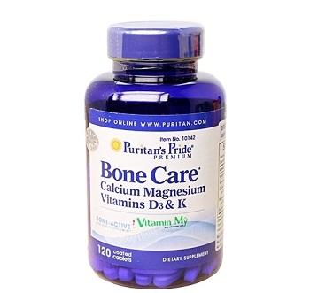 Viên bổ sung canxi Bone Care của Puritans Pride của Mỹ