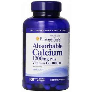 Absorbable Calcium Puritan's Pride viên uống bổ khớp của Mỹ