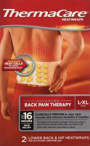 Miếng dán nhiệt ThermaCare HeatWraps Back & Hip của Mỹ