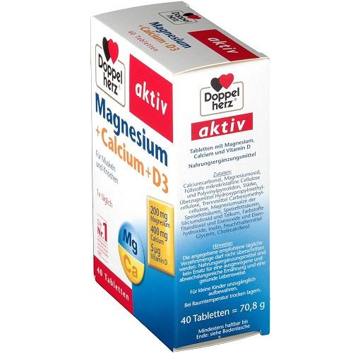 Viên bổ sung Magnesium + Calcium + D3 của Doppelherz Đức