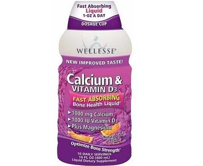Wellesse Calcium và Vitamin D3 Liquid dạng nước của Mỹ