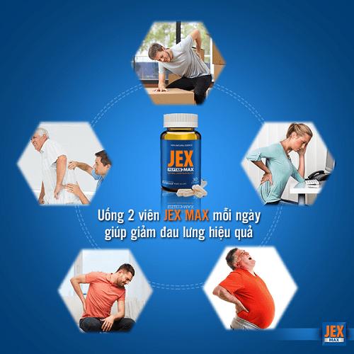 Viên jex max usa có tác dụng ngăn ngừa loãng xương.