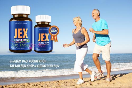 Viên jex max hỗ trợ điều trị một số bệnh về xương khớp.
