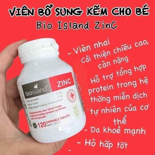 công dụng của Kẽm Bio Island Zinc