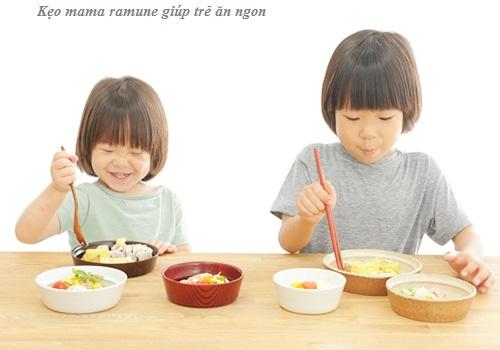 Kẹo biếng ăn cho trẻ Mama Ramune của Nhật kích thích ăn ngon