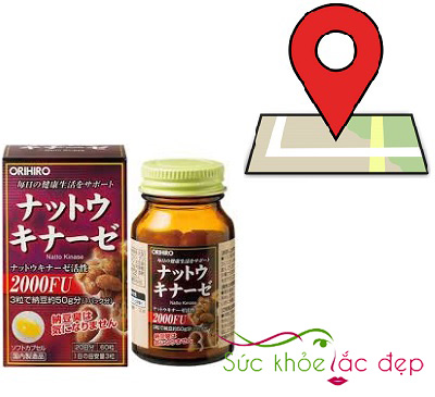 Địa chỉ mua nattokinase 2000fu orihiro Nhật Bản ở đâu?