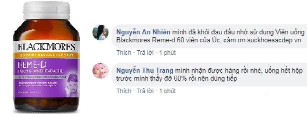 Review về Giá viên Uống Blackmores Reme-d từ khách hàng.