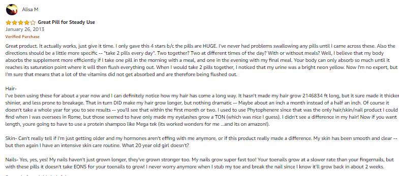 Bihaku collagen review của khách hàng tại amazon.