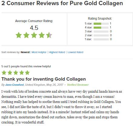 Review của khách hàng sau khi sử dụng collagen pure gold