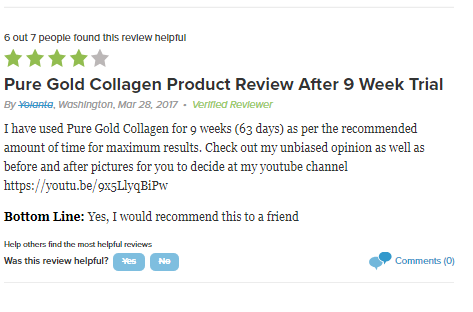 review về pure collagen gold