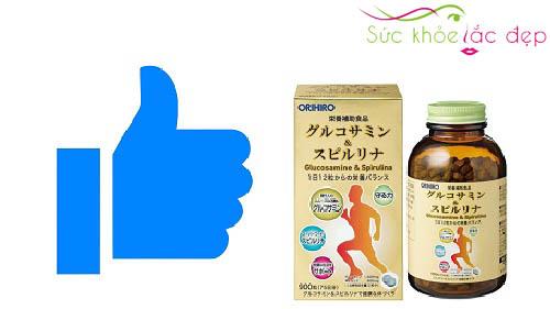 Review glucosamine spirulina orihiro 900 viên Nhật của khách hàng tại khách hàng tại Việt Nam