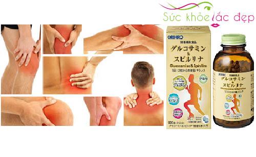 Công dụng của tảo Glucosamine % Spirulina orihiro 900 Viên Nhật Bản