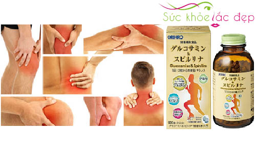 Công dụng nổi bật của Tảo Glucosamine & Spirulina Orihiro Nhật Bản 900 viên