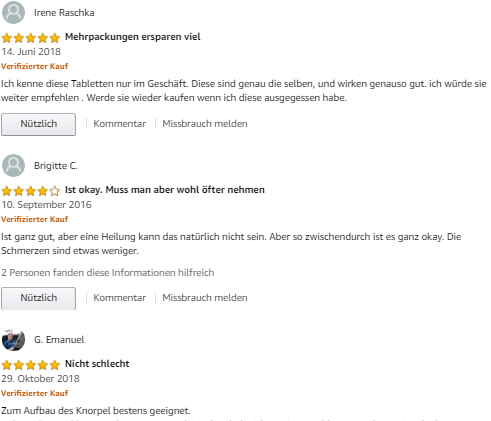Review Doppelherz Aktiv Gelenk 1000 Tại amazon