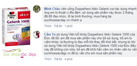 Review Doppelherz Aktiv Gelenk 1000 của khách hàng tại Việt Nam