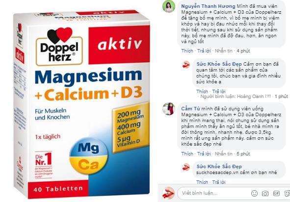 Review của khác hàng về công dụng của Magnesium + Calcium + D3