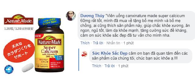 Viên uống canxinature made super calcicum 60mg review có tốt không?