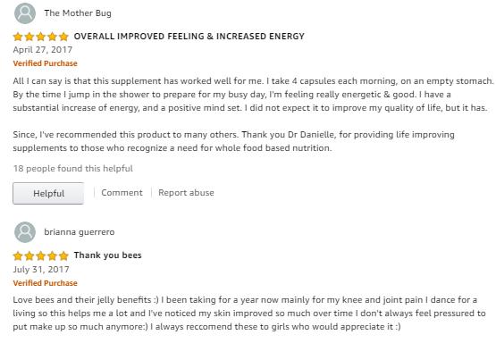 Review sữa ong chúa royal jelly 100 viên của mỹ tại amazon
