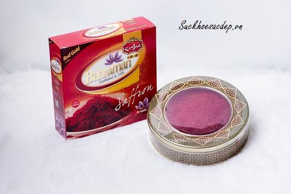 Nhụy hoa nghệ tây Saffron Bahraman hộp 100gr