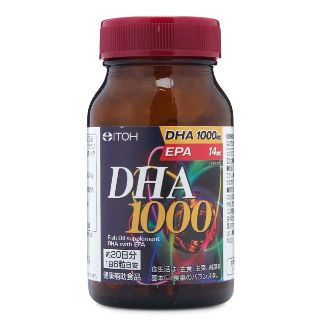 Viên bổ não tăng cường trí nhớ ITOH DHA 1000 - 120 viên Nhật Bản