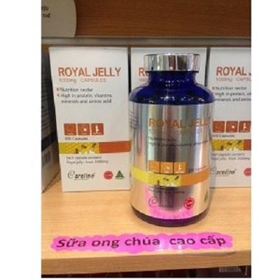Viên Sữa Ong Chúa Cao Cấp Royal Jelly 1000mg Careline Hộp 100 Viên