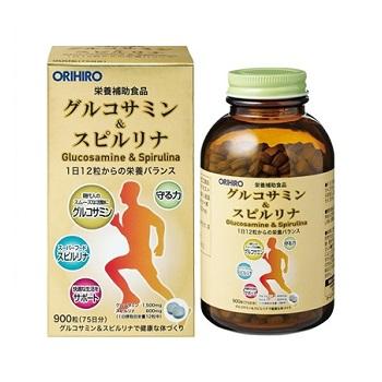 Tảo Glucosamine & Spirulina Orihiro  900 viên Nhật Bản