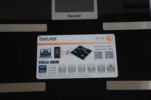 Cân điện tử phân tích cơ thể kết nối không dây Beurer BF700